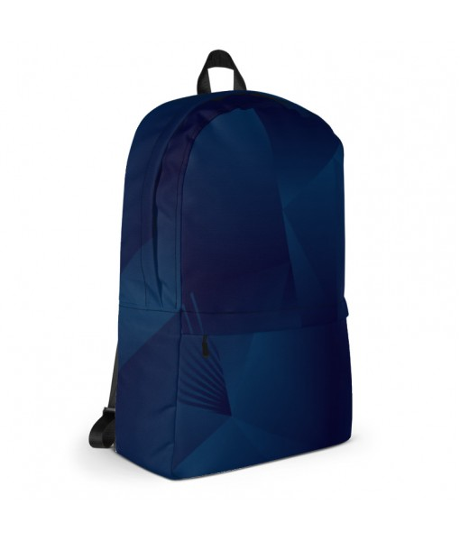 Blue Polygonal Backpack